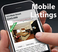 Search homes for sale with mobile listings